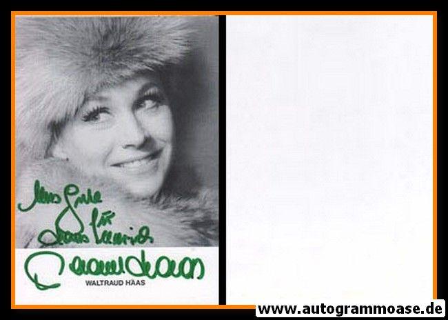 Autogramm Schauspieler | Waltraud HAAS | 1980er (Portrait SW)