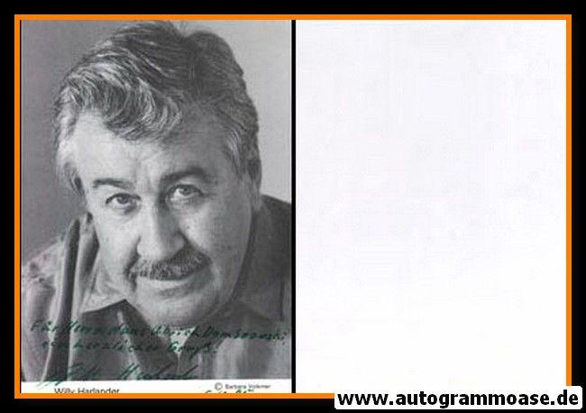Autogramm Schauspieler | Willy HARLANDER | 1980er (Portrait SW) 2