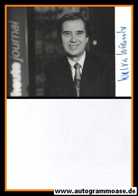 Autogramm TV   ZDF   Wolf VON LOJEWSKI   1990er Foto (Portrait SW)