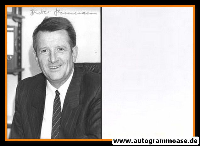 Autogramm Politik | CDU | Dieter HECKELMANN | 1990er Foto (Portrait SW)
