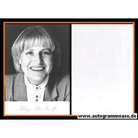 Autogramm Politik   FDP   Helga SCHUCHARDT   1990er Foto (Portrait SW)