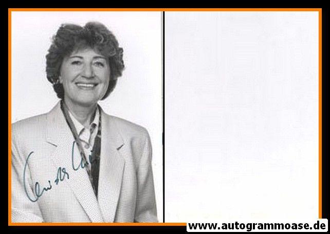 Autogramm Politik | DDR | Christa LUFT | 1990er Foto (Portrait SW)