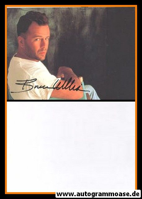 Autogramm Film (USA)   Bruce WILLIS   1990er Druck (Portrait Color) 2