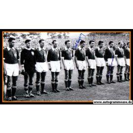 Mannschaftsfoto Fussball   Österreich   1954 WM + 4 AG (Koller, Kollmann, Körner, Wagner) Spiel Uruguay