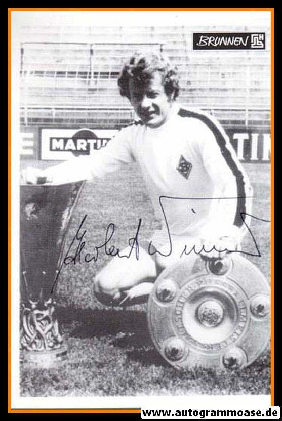 Autogramm Fussball | Borussia Mönchengladbach | 1960er | Herbert WIMMER (Pokale) Brunnen