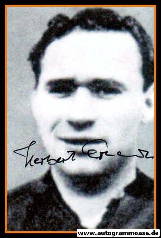 Autogramm Fussball   DFB   1950er Foto   Herbert ERHARDT (Portrait SW) 1