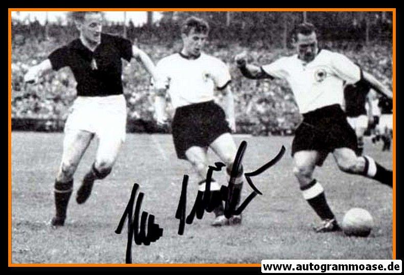Autogramm Fussball   DFB   1954 WM Foto   Hans SCHÄFER (Spielszene SW Ungarn)