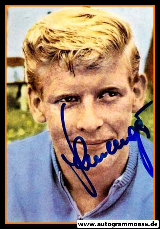 Autogramm Fussball   DFB   1950er Foto   Karl-Heinz SCHNELLINGER (Portrait Color)