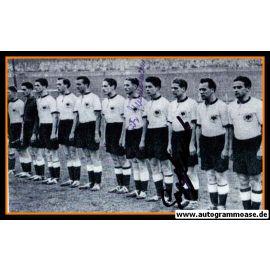 Mannschaftsfoto Fussball   DFB   1953 + 2 AG (Semmelmann, Stollenwerk) Frankreich