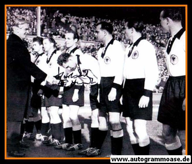 Mannschaftsfoto Fussball | DFB | 1954 WM + AG Herbert ERHARDT (England) 1