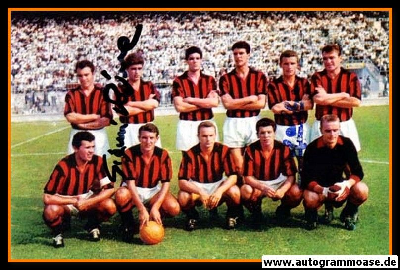 Mannschaftsfoto Fussball | AC Mailand | 1960er Foto + 2 AG (RIVERA + TRAPATTONI)