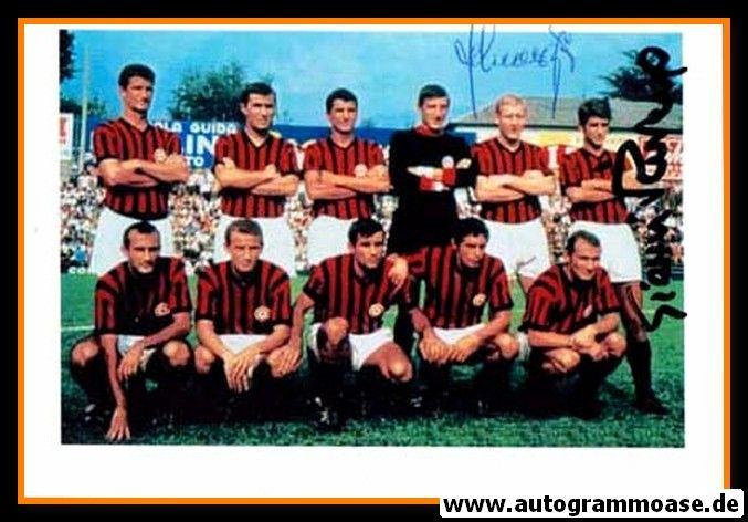 Mannschaftsfoto Fussball   AC Mailand   1967 Foto + 2 AG (RIVERA + SCHNELLINGER)