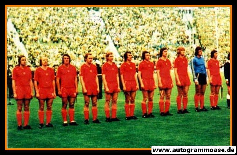 Mannschaftsfoto Fussball | Polen | 1974 WM + AG Adam MUSIAL