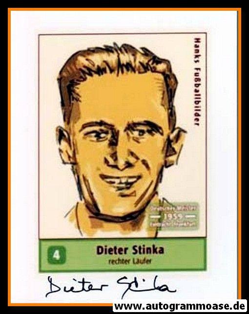 Autogramm Fussball   Eintracht Frankfurt   1959 Foto   Dieter STINKA (Zeichnung Hanks)