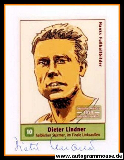 Autogramm Fussball   Eintracht Frankfurt   1959 Foto   Dieter LINDNER (Zeichnung Hanks)