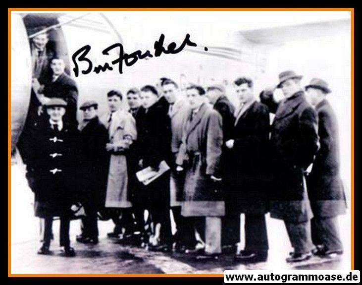 Mannschaftsfoto Fussball   Manchester United   1950er + AG Bill FOULKES (Abflug)