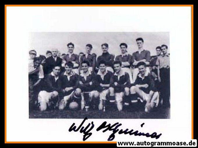 Mannschaftsfoto Fussball   Manchester United   1954 + AG Wilf McGUINESS