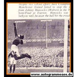 Autogramm Fussball   Manchester United   1949   Jack CROMPTON (Spielszene SW)