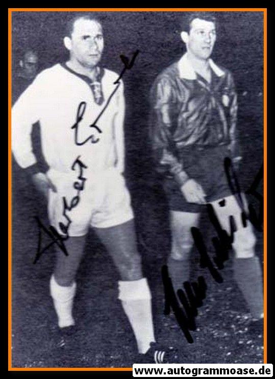 Autogramme Fussball   DFB   1960er Foto   Herbert ERHARDT + Hans SCHÄFER (Portrait SW)