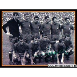 Mannschaftsfoto Fussball   Spanien   1964 EM +  AG Luis SUAREZ (1)