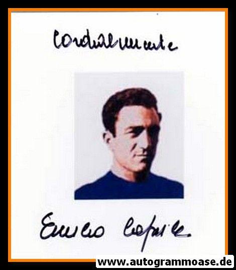 Autogramm Fussball | Italien | 1950er Foto | Emilio CAPRILE (Portrait Color)