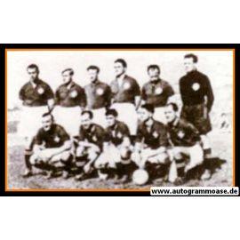 Mannschaftsfoto Fussball | Schweiz | 1950 WM + AG Jacques FATTON (Jugoslawien)