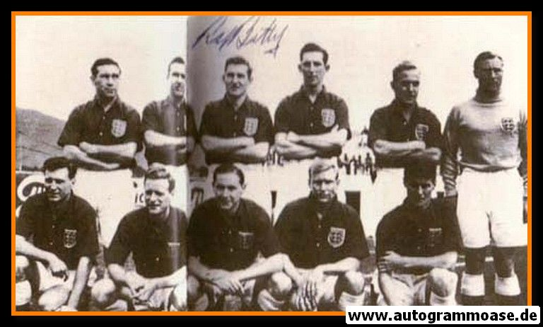 Mannschaftsfoto Fussball   England   1950 WM + AG Roy BENTLEY (Spiel USA)