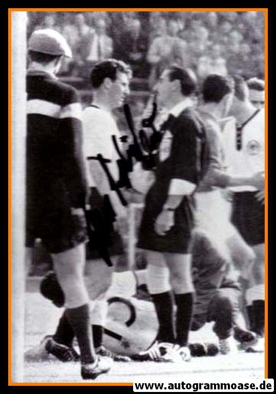 Autogramm Fussball | DFB | 1958 WM Foto | Hans SCHÄFER (Gespräch Schiri)