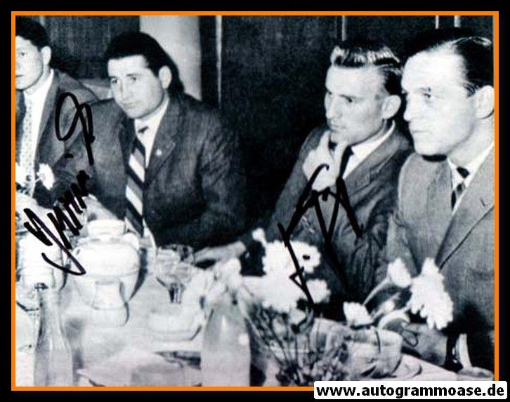 Autogramme Fussball | DFB | 1958 WM Foto | Horst SZYMANIAK + Günter JÄGER (Essen)