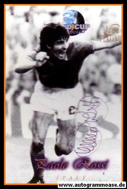 Autogramm Fussball | Italien | 1980er Foto | Paolo ROSSI (Jubelszene SW Futera)
