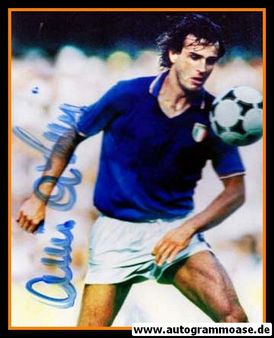 Autogramm Fussball | Italien | 1980er Foto | Antonio CABRINI (Spielszene Color)