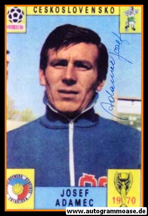 Autogramm Fussball   Tschechien   1970 WM Foto   Jozef ADAMEC (Portrait Color)