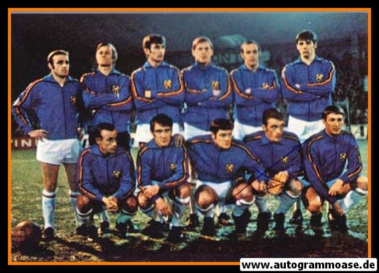 Mannschaftsfoto Fussball | Belgien | 1970 WM + AG Paul VAN HIMST
