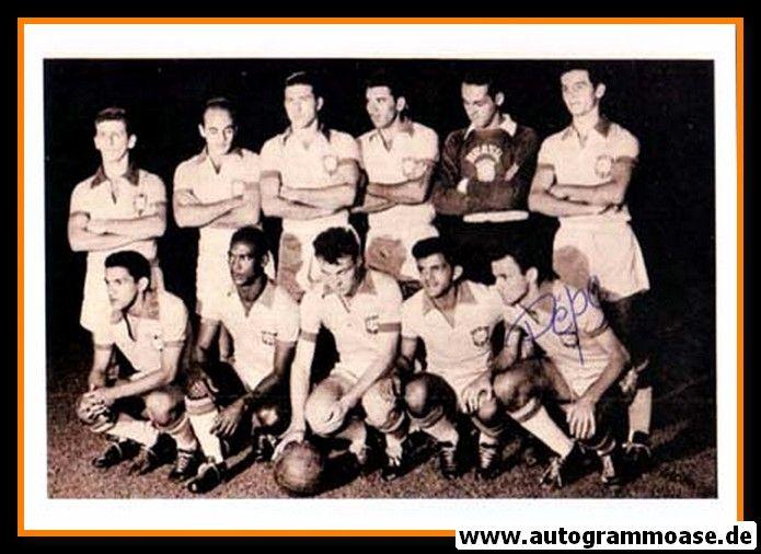 Mannschaftsfoto Fussball | Brasilien | 1958 WM + AG PEPE