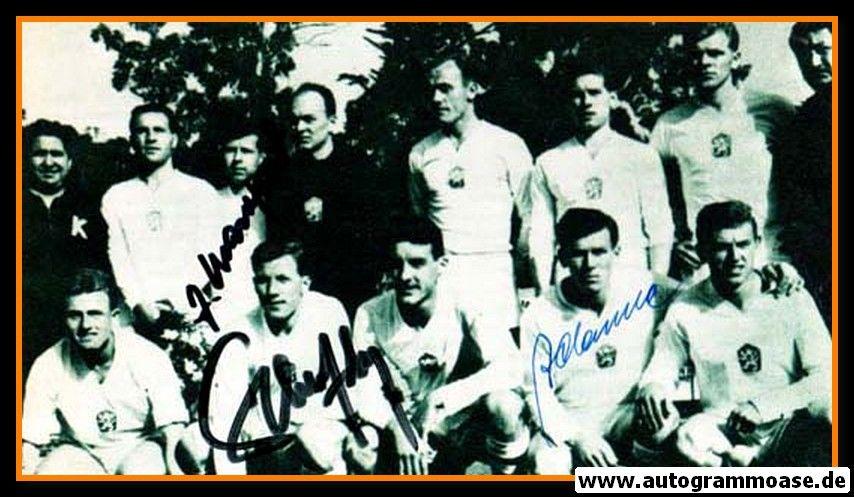 Mannschaftsfoto Fussball | Tschechien | 1962 WM + 3 AG (Adamec, Masopust, Scherer) Mexiko