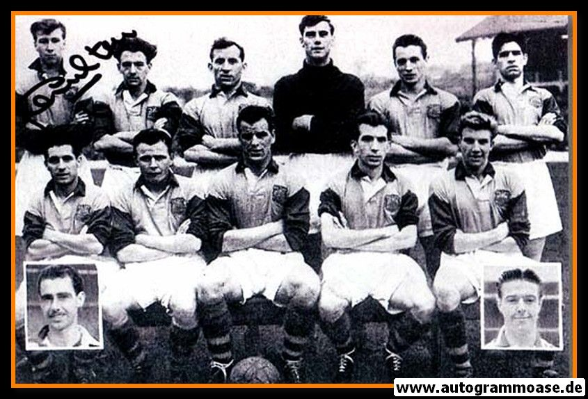 Mannschaftsfoto Fussball   Leeds United   1955 + AG Jack CHARLTON (1)