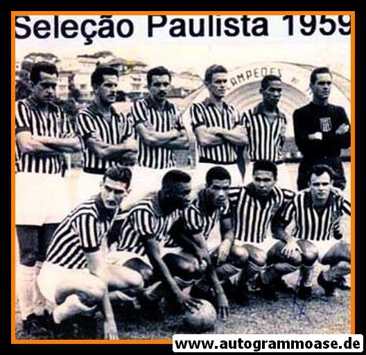 Mannschaftsfoto Fussball   Brasilien   1959 + AG PEPE