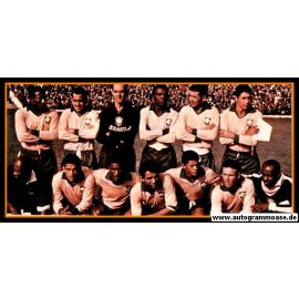 Mannschaftsfoto Fussball   Brasilien   1962 WM + AG ZITO