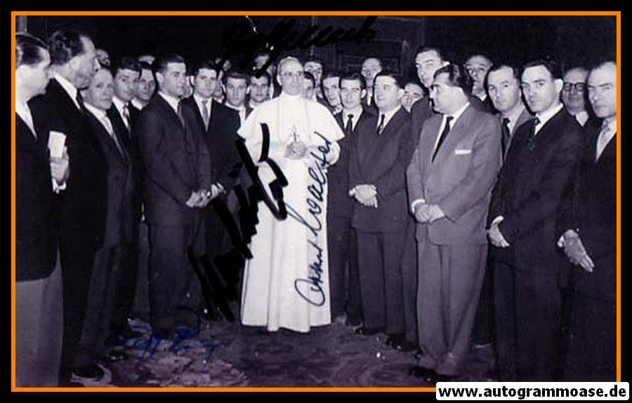 Mannschaftsfoto Fussball   DFB   1955   4 AG (Audienz Papst Pius)