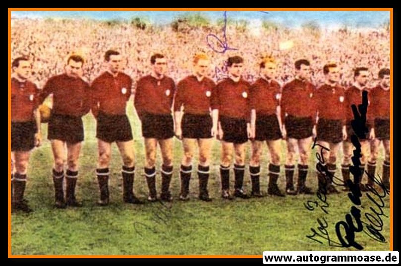 Mannschaftsfoto Fussball | 1. FC Nürnberg | 1961 + 5 AG (Europapokal)