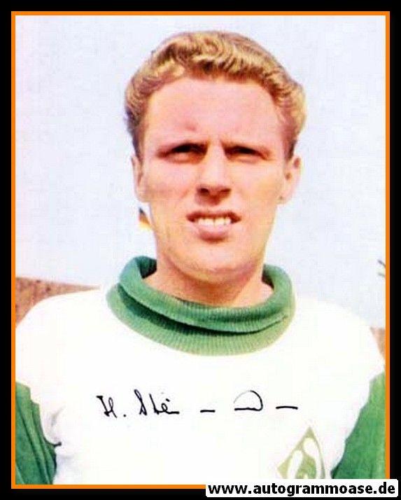 Autogramm Fussball | SV Werder Bremen | 1960er Foto | Heinz STEINMANN (Portrait Color)
