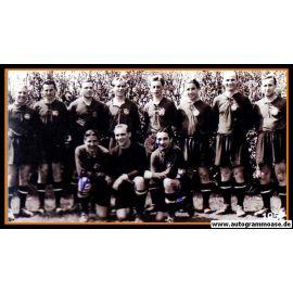 Mannschaftsfoto Fussball | 1. FC Nürnberg | 1952 + 2 AG (Mirsberger, Sippel)