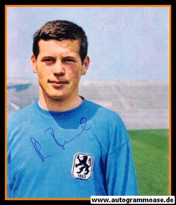 Autogramm Fussball   TSV 1860 München   1960er Foto   Hans REICH (Portrait Color) 4