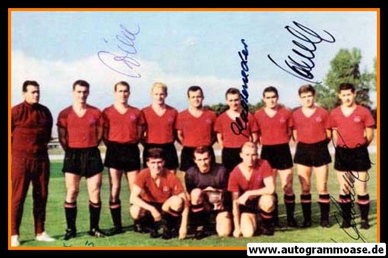 Mannschaftsfoto Fussball   1. FC Nürnberg   1963 + 5 AG