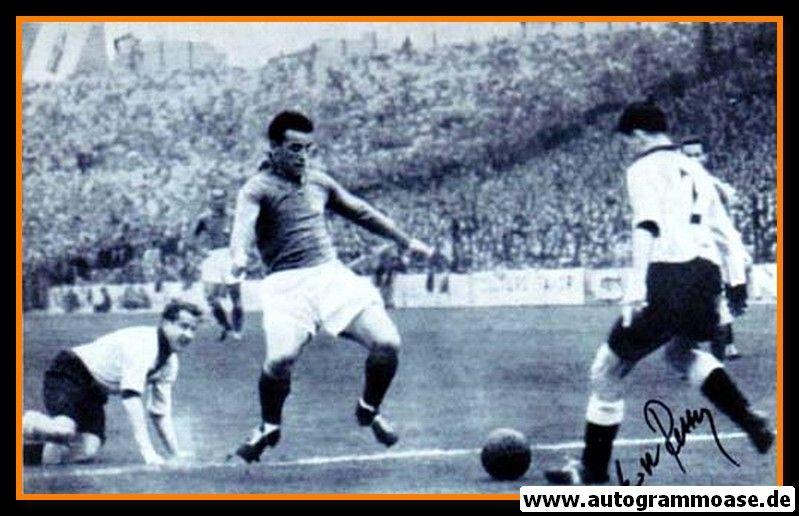 Autogramm Fussball   DFB   1952 Foto   Erich RETTER (Spielszene SW Frankreich)