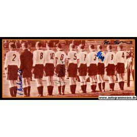 Mannschaftsfoto Fussball | DFB | 1954 + 4 AG (Erhardt, Harpers, Herkenrath, Pfaff) Portugal