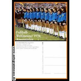 Mannschaftskarte Fussball   Argentinien   1978 WM Retro (Spiel Holland)