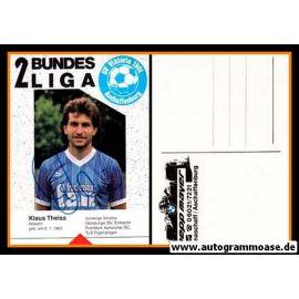 Autogramm Fussball   SV Viktoria 1901 Aschaffenburg   1988   Klaus THEISS
