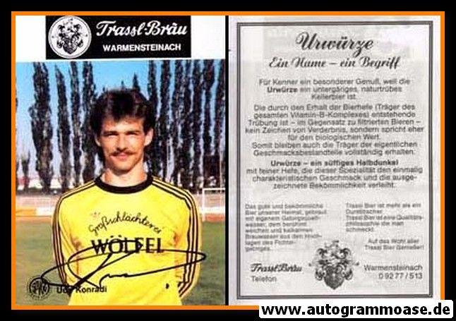 Autogramm Fussball | SpVgg Bayreuth | 1987 | Udo KONRADI