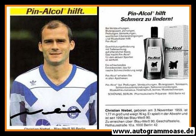Autogramm Fussball | Blau-Weiss 90 Berlin | 1990 | Christian NIEBEL